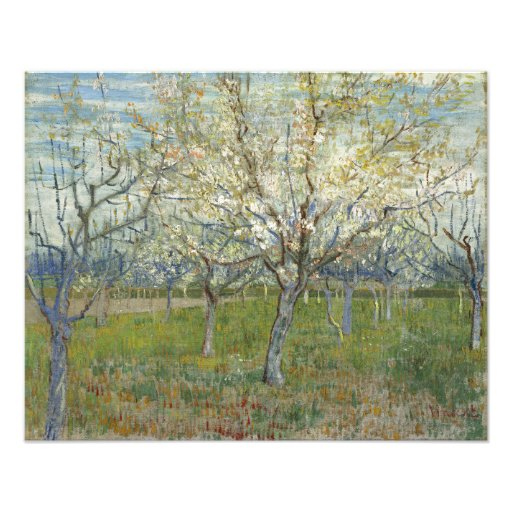 Pink Orchard by Vincent Van Gogh Photo Art