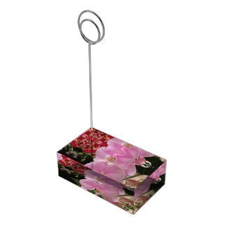 Pink Orchid blooms Table Number Holder
