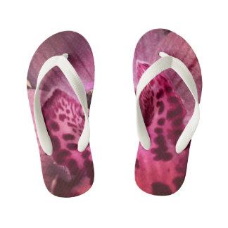 Pink Orchid Flip Flops Thongs