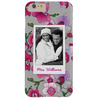 Pink Orchids In Bloom | Add Your Photo & Name Barely There iPhone 6 Plus Case