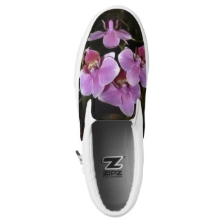 Pink Orchids Slip On Shoes