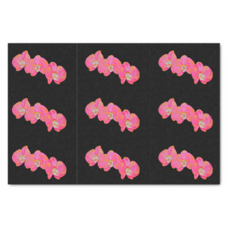 Pink Orchids Tissue Paper