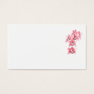 Pink Orchids Wedding Place Name Cards