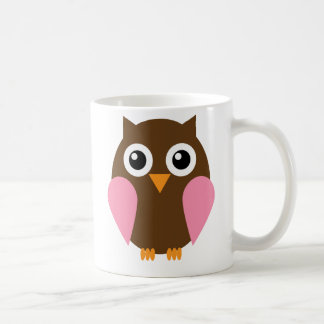 Pink Owl Coffee Mug