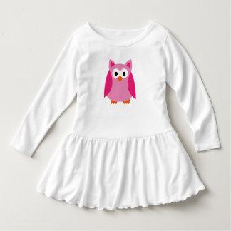 Pink Owl ruffled shirt