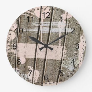 Pink Painted faux Wood Large Clock