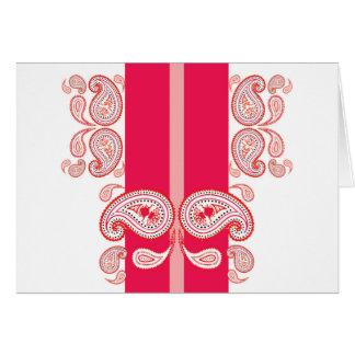 Pink paisleys greeting card