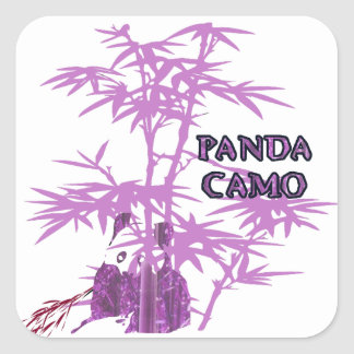 Pink Panda Camo Square Sticker