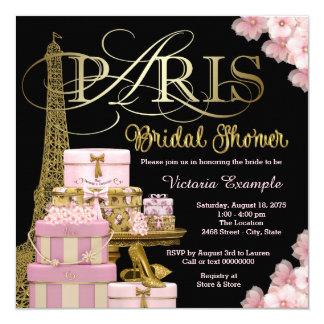 Pink Paris Bridal Shower Card