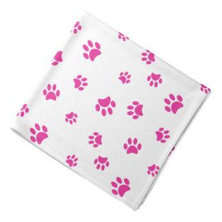 Pink Paw Prints Pattern Kerchief