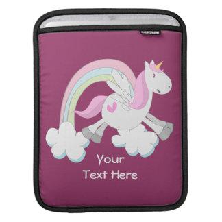 Pink Pegasus (customizable) iPad Sleeve