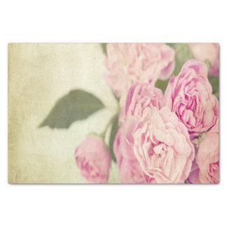 "Pink, peonies,vintage,floral,grunge,worn,template, 10"" x 15"" tissue paper"