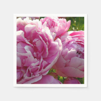 Pink Peony Disposable Serviettes