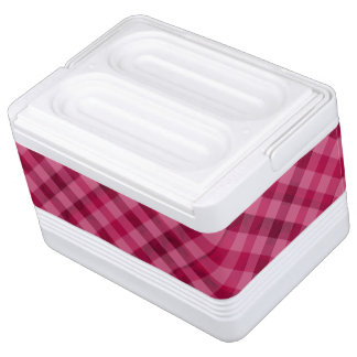Pink Picnic in Plaid - Custom Cooler Chilly Bin