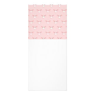 Pink Pig Face Repeating Pattern Custom Rack Cards