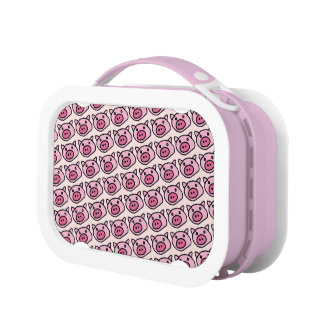 pink pig pattern lunchboxes