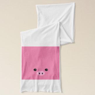Pink Piglet Cute Animal Face Design Scarf