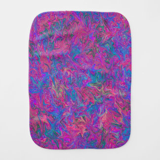 Pink Plastic Grid Abstract Baby Burp Cloths