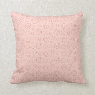 Pink Polka Dot Adorable Baby Girl Throw Pillow
