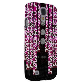 Pink Polka-dot Bling Galaxy S4 Case