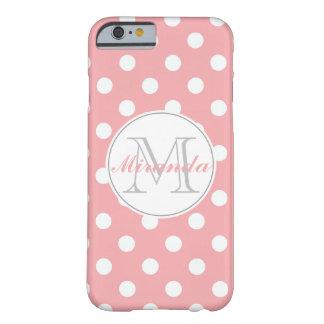 pink polka dot monogram iPhone 6 case