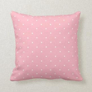 Pink Polka Dot Throw Pillow Throw Cushion