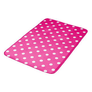 Pink Polka Dots Bath Mat