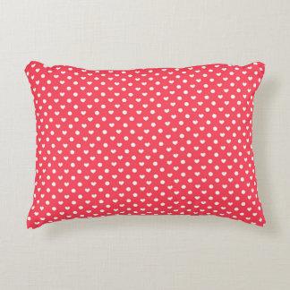 Pink Polka hearts Accent Cushion