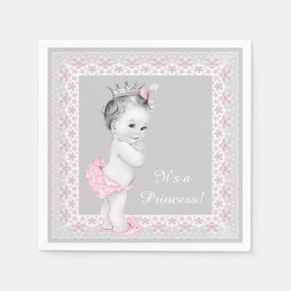 Pink Princess Baby Shower Disposable Napkin