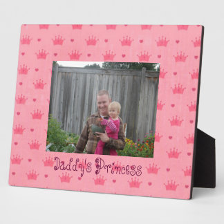 Pink Princess Crown Tiaras Frame Plaque