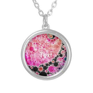 Pink Printed Bling Custom Jewelry