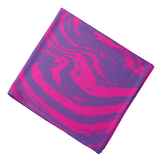 Pink purple abstract digital print bandanas