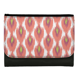 Pink Purple Abstract Tribal Ikat Diamond Pattern Wallet