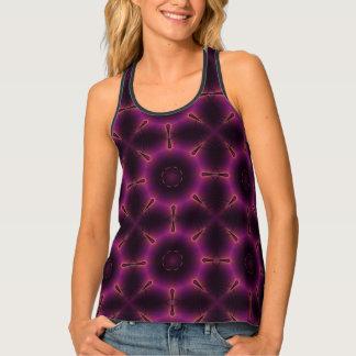 Pink Purple And Orange Kaleidoscope Pattern Singlet