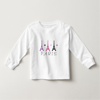 Pink & Purple Eiffel Tower pattern Toddler T-Shirt