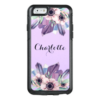 Pink Purple Floral Stylish Watercolor OtterBox iPhone 6/6s Case