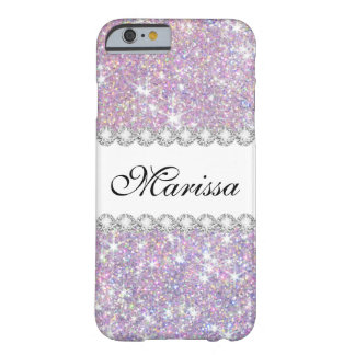 Pink Purple Glitter Case-Mate iPhone 6/6s Case