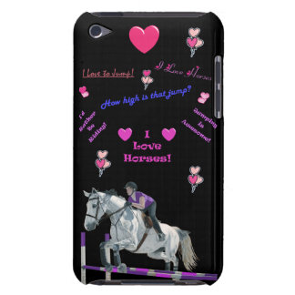 Pink & Purple Horse Lovers iPod Case-Mate Case
