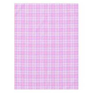 Pink Purple Lavender Plaid Gingham Spring Easter Tablecloth
