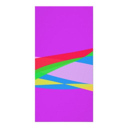 Pink Purple Minimalism Abstract Art Photo Greeting Card