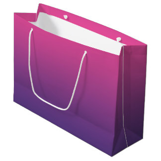 Pink & Purple Ombre Large Gift Bag