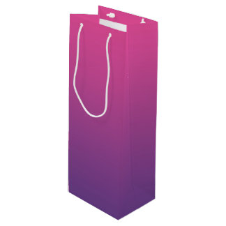 Pink & Purple Ombre Wine Gift Bag