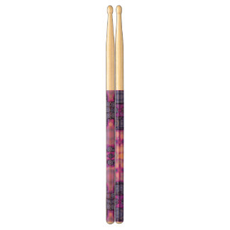 Pink Purple Peach Unique Abstract Drumsticks