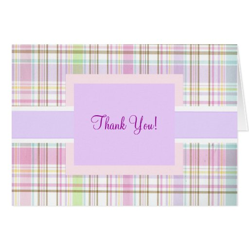 Pink Purple Plaid Thank You