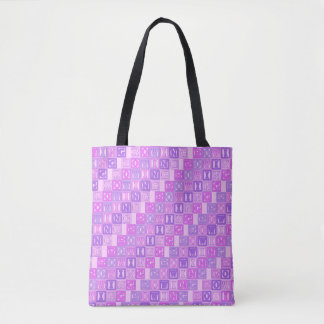 Pink purple rowing tote bag