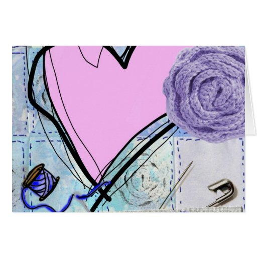 Pink Quilt Greeting Card