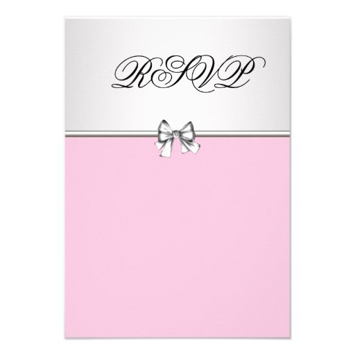 Pink Quinceanera RSVP Personalized Announcements