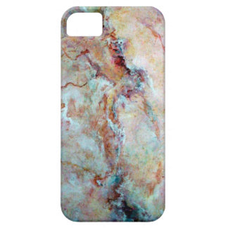 Pink rainbow marble stone finish barely there iPhone 5 case