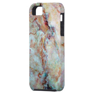 Pink rainbow marble stone finish case for the iPhone 5