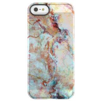 Pink rainbow marble stone finish permafrost® iPhone SE/5/5s case